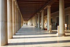 Stoa της σκεπαστής εισόδου πρόσοψης Attalos στην αρχαία αγορά, Αθήνα Στοκ εικόνες με δικαίωμα ελεύθερης χρήσης