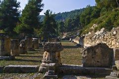 Stoa, Amphiareion de Oropos Fotos de Stock Royalty Free