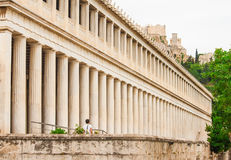 Stoa of Atalos in Ancient Agora of Athens, Greece. Royalty Free Stock Images