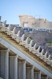 Stoa Attalos, Афина-Греции Стоковое Изображение