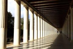 Stoa Attalos в Афинах, Греции Стоковые Фотографии RF
