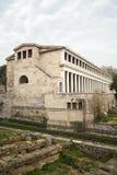 Stoa of Attalos. In the ancient Agora of Athens, Greece stock photos