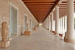 Stoa of Attalos Ancient Agora Athens Stock Images