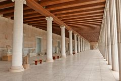 Stoa of Attalos Ancient Agora Athens Royalty Free Stock Photography