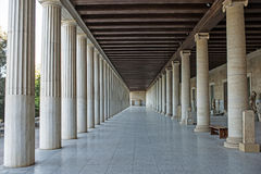 Stoa of Attalos in ancient Agora, Athens, Greece. Stoa of Attalos in ancient Agora, Athens,Greece Stock Photo