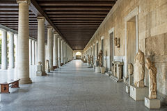 Stoa of Attalos in ancient Agora, Athens, Greece Royalty Free Stock Image