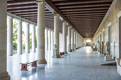 Stoa of Attalos in ancient Agora, Athens, Greece Royalty Free Stock Photography