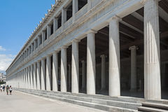 Stoa of Attalos, The Ancient Agora, Athens, Greece. Colonnade of an ancient museum, Stoa of Attalos, The Ancient Agora, Athens, Greece Stock Images