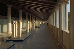Stoa of Attalos in Ancient Agora, Athens, Greece Stock Photography