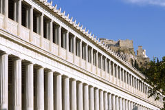 The Stoa of Attalos, in ancient Greek Agora in Athens, Greece. Royalty Free Stock Image