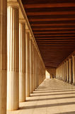 The Stoa of Attalos, Athena, Greece. The Stoa of Attalos (also spelled Attalus) is recognised as one of the most impressive in the Athenian Agora. It was built Royalty Free Stock Photo