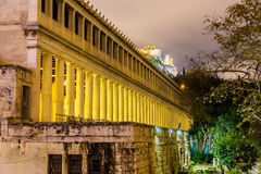 Stoa of Attalos in Athens Stock Images