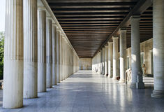 Stoa of Attalos Athens Greece Royalty Free Stock Photos