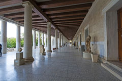 Stoa of Attalos, Athens-Greece Royalty Free Stock Photo
