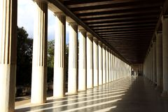 Stoa of Attalos in Athens, Greece Royalty Free Stock Photos