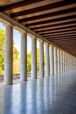 Stoa Attalos columns Stock Photography
