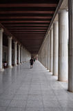 Stoa of attalos covered walkway Stock Photo