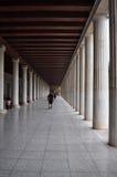Stoa of attalos covered walkway Stock Photo