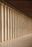 Stoa of Attalos Doric colonnade and ceiling Royalty Free Stock Photos