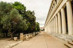 Stoa of Attalos Royalty Free Stock Photo