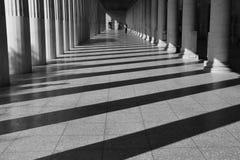 Stoa attalos light and shadow Royalty Free Stock Photography