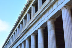 Stoa of Attalus. Architectural detail of the stoa of Attalus at Athens, Greece Stock Images