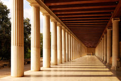 Stoa of Attalus at Athens, Greece. Stoa of Attalus at Athens, Agora ancient temple Stock Photo