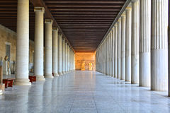 Stoa of Attalus. View of the stoa of Attalus. Ancient Agora of Classical Athens, Greece Royalty Free Stock Photography