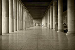 Stoa of Attalus. View of the stoa of Attalus. Ancient Agora of Classical Athens, Greece Stock Photography