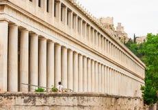 Stoa av Atalos i den forntida marknadsplatsen av Aten, Grekland Royaltyfria Bilder