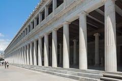 Stoa av Attalos, den forntida marknadsplatsen, Aten, Grekland Arkivbilder