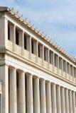 Stoa av Attalos, forntida marknadsplats i Aten Arkivfoton