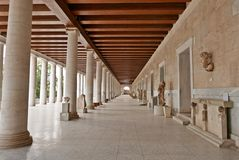 Stoa av Attalos forntida marknadsplatsAten Royaltyfri Foto