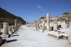 The Stoa Basileios. (The Royal Walk) Ephesus, Izmir, Turkey Royalty Free Stock Image
