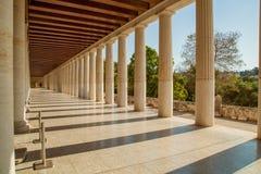 Stoa d'Attalos en agora antique d'Athènes Image libre de droits