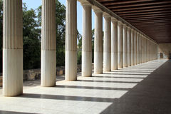 Stoa de Attalos, Atenas, Greece imagem de stock