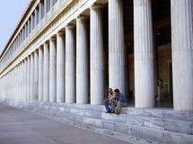 Stoa di Attalus a Atene fotografia stock libera da diritti