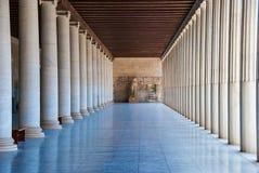 Stoa dos attalos na ágora em Atenas Grécia Fotografia de Stock