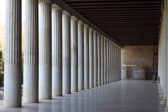 Stoa interior de Attalos Fotografía de archivo