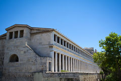 Stoa van Attalos, Athene-Griekenland Stock Foto