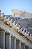 Stoa von Attalos, Athen-Griechenland Stockbild