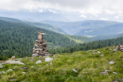 Stoanerne Mandln - каменный человек стоковые изображения