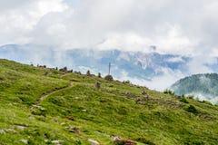 Stoanerne Mandln - Alpen (Steinmann) Stockfoto