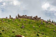 Stoanerne Mandln - Itália (homem de pedra) Imagens de Stock Royalty Free