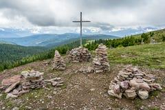 Stoanerne Mandln - Tirol sul (homem de pedra) Fotos de Stock