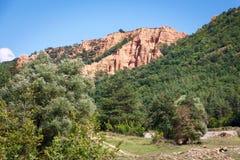 Stob地球金字塔的美丽的景色,保加利亚,欧洲 图库摄影