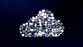 a stoccaggio basato a nuvola di media Assicuri la memoria in linea video d archivio