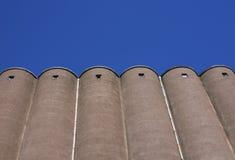 Stoccaggio concreto del grano Immagini Stock Libere da Diritti