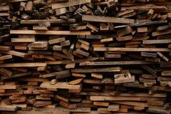 Stoccaggio degli sprechi di legno Fotografia Stock Libera da Diritti