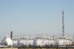 Stoccaggio del gas naturale Immagini Stock